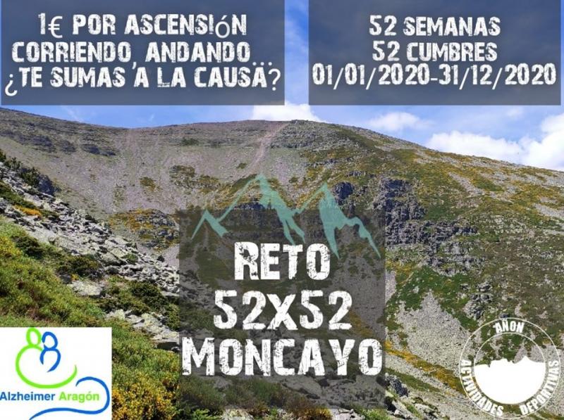 Cartel del evento RETO 52 X 52 MONCAYO