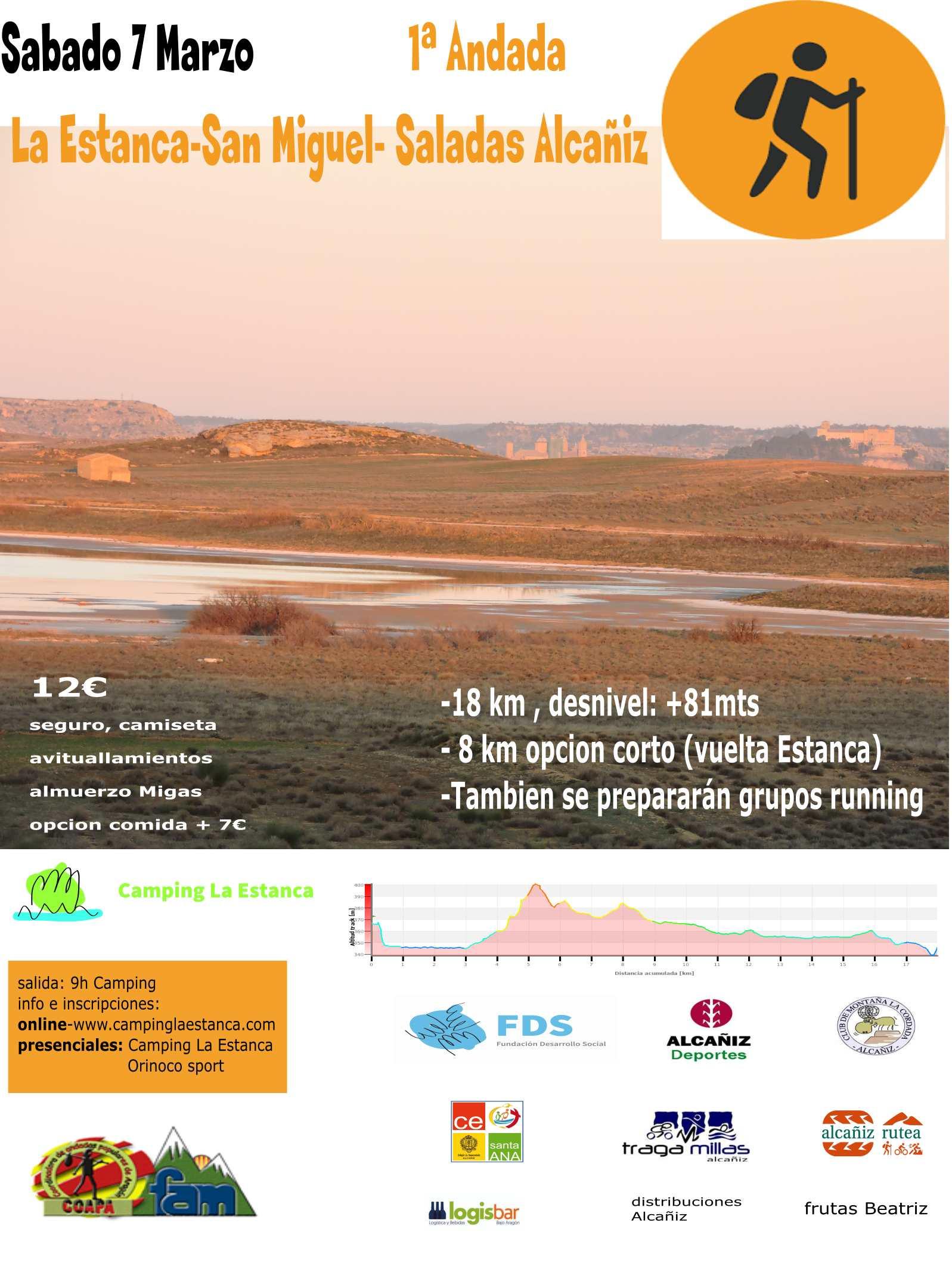 Cartel del evento ANDADA ESTANCA-LAS SALADAS 2020