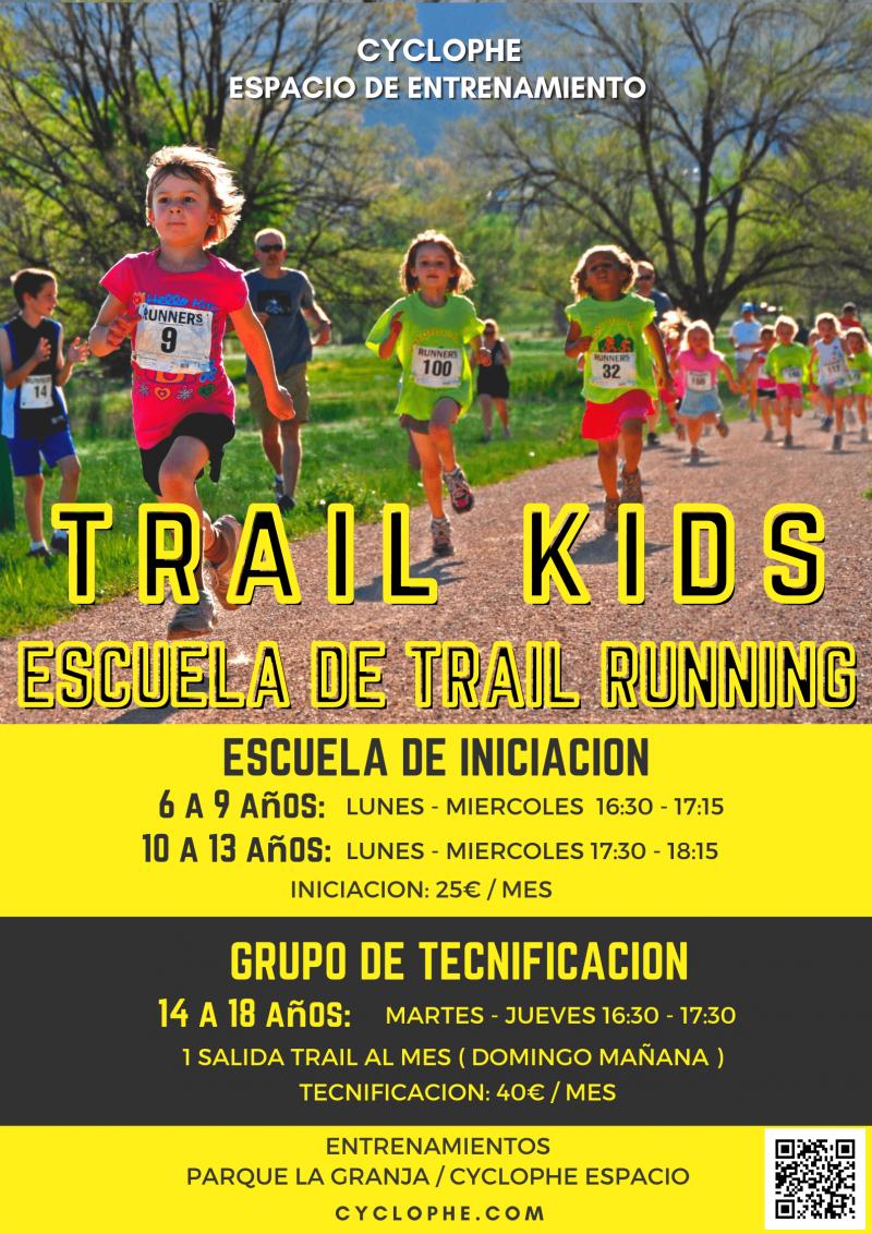 Cartel del evento TRAIL KIDS CENTRO DE TECNIFICACIÓN