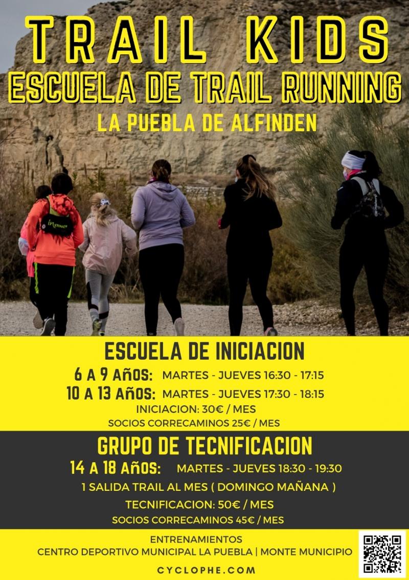 Cartel del evento TRAIL KIDS ESCUELA DE TRAIL RUNNING LA PUEBLA DE ALFINDEN