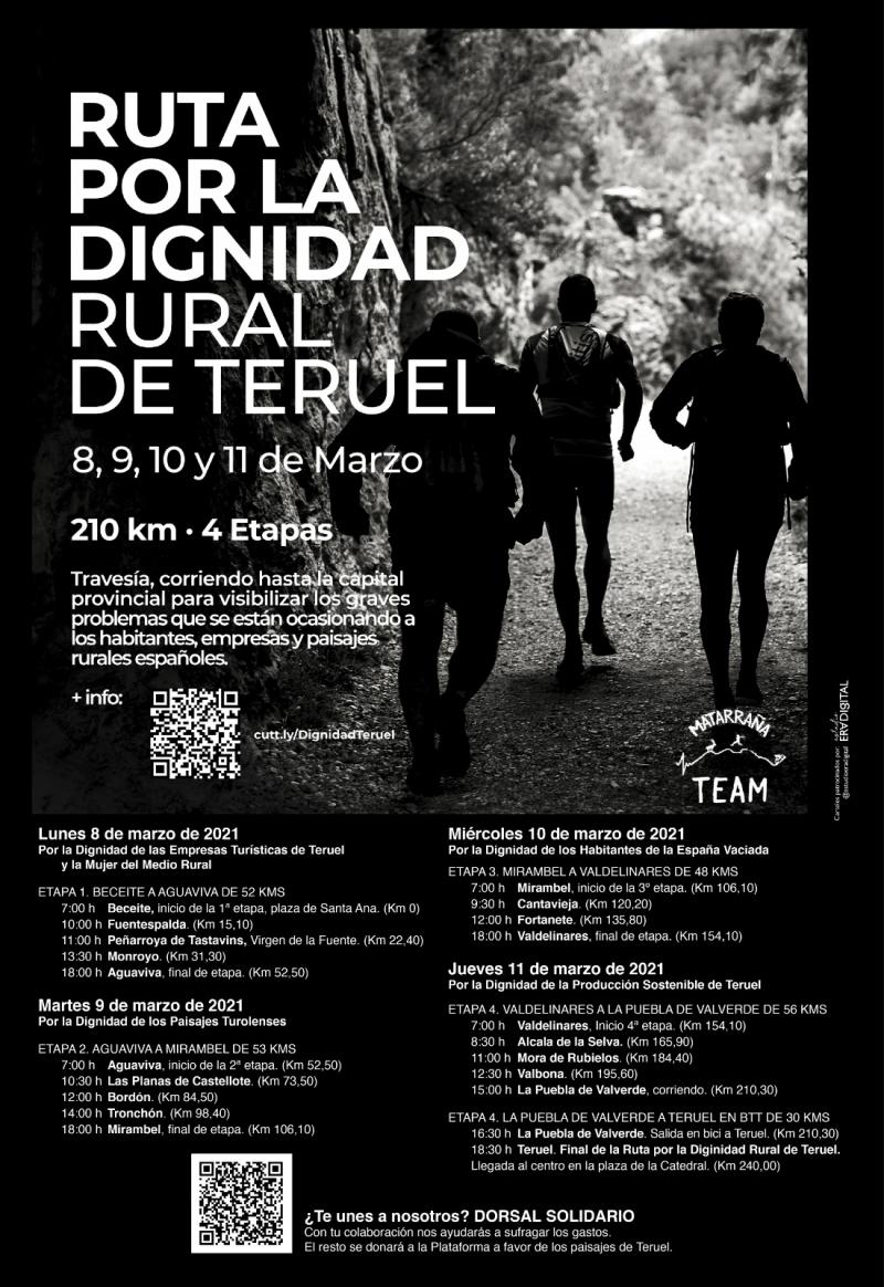 Cartel del evento RUTA POR LA DIGNIDAD RURAL DE TERUEL